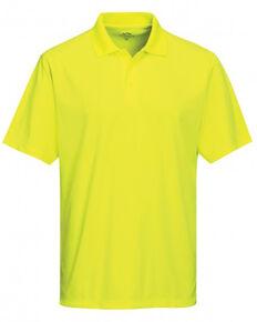 Tri-Mountain Men's Bright Green 4X Vital Mini-Pique Short Sleeve Work Polo Shirt - Big , Bright Green, hi-res