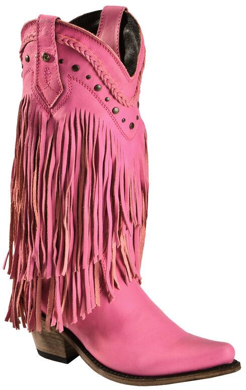 Liberty Black Vegas Fringe Boots - Pointed Toe, Pink, hi-res