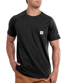 Carhartt Men's Force Cotton Short Sleeve Work T-Shirt , Black, hi-res
