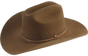 Stetson Powder River 4X Buffalo Felt Cowboy Hat, Mink, hi-res