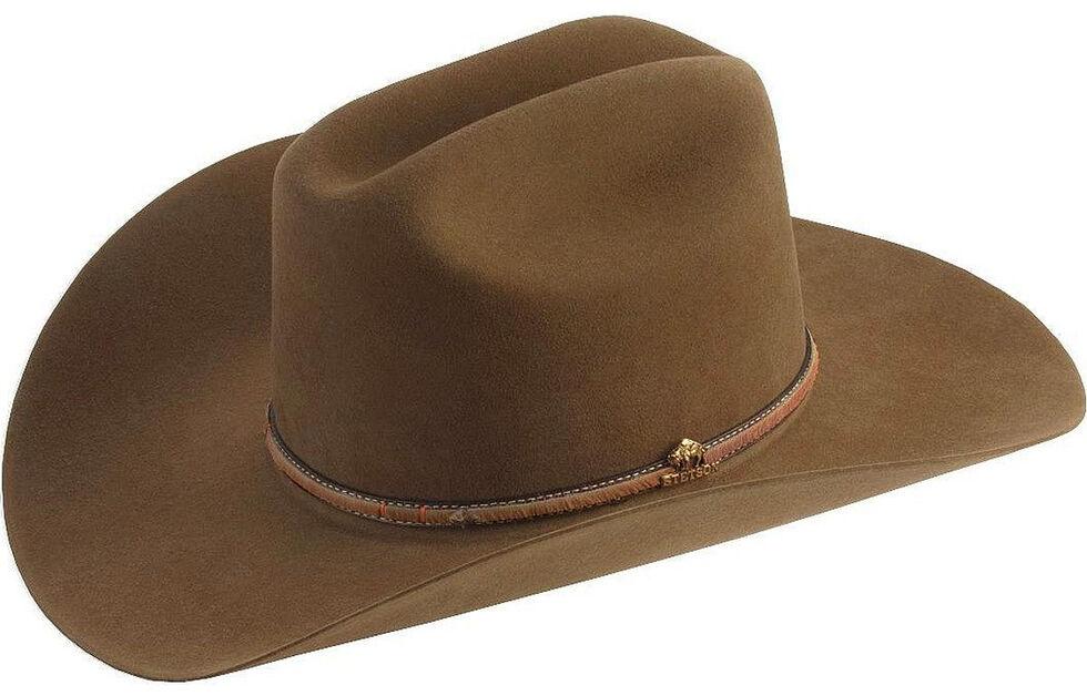 6b2608d2 Zoomed Image Stetson Powder River 4X Buffalo Felt Cowboy Hat, Mink, hi-res