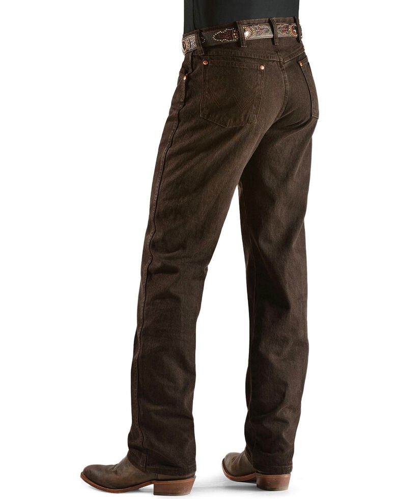 Wrangler 13MWZ Cowboy Cut Original Fit Jeans - Prewashed Colors, Chocolate, hi-res