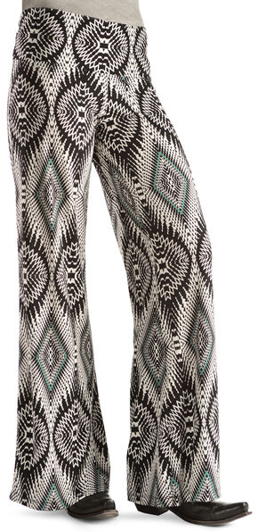 Wrangler Rock 47 Women's Black & White Palazzo Pants, Blk/white, hi-res