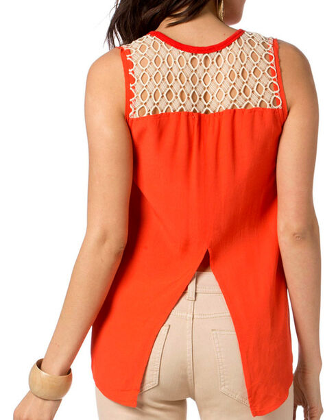 Miss Me Women's Studded Tank, Red, hi-res
