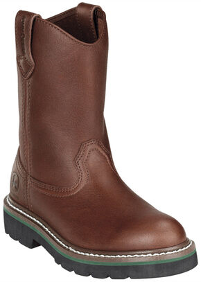 John Deere Youth Boys' Johnny Popper Roper Western Boots - Round Toe, Brown, hi-res