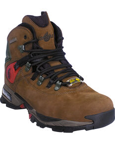 "Men's Nautilus 6"" Moss Waterproof Work Boots - Steel Toe , Moss, hi-res"