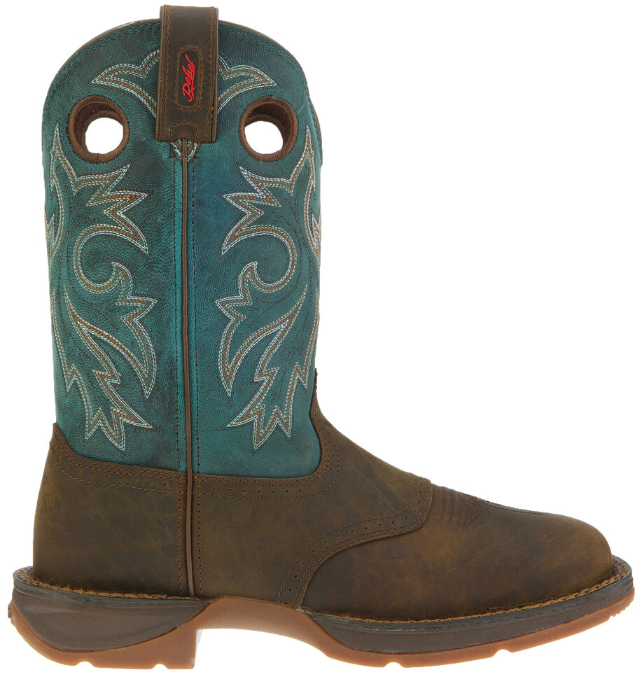 Durango Rebel Men's Tan Pull-On Western Boots - Wide Square Toe, Tan, hi-res