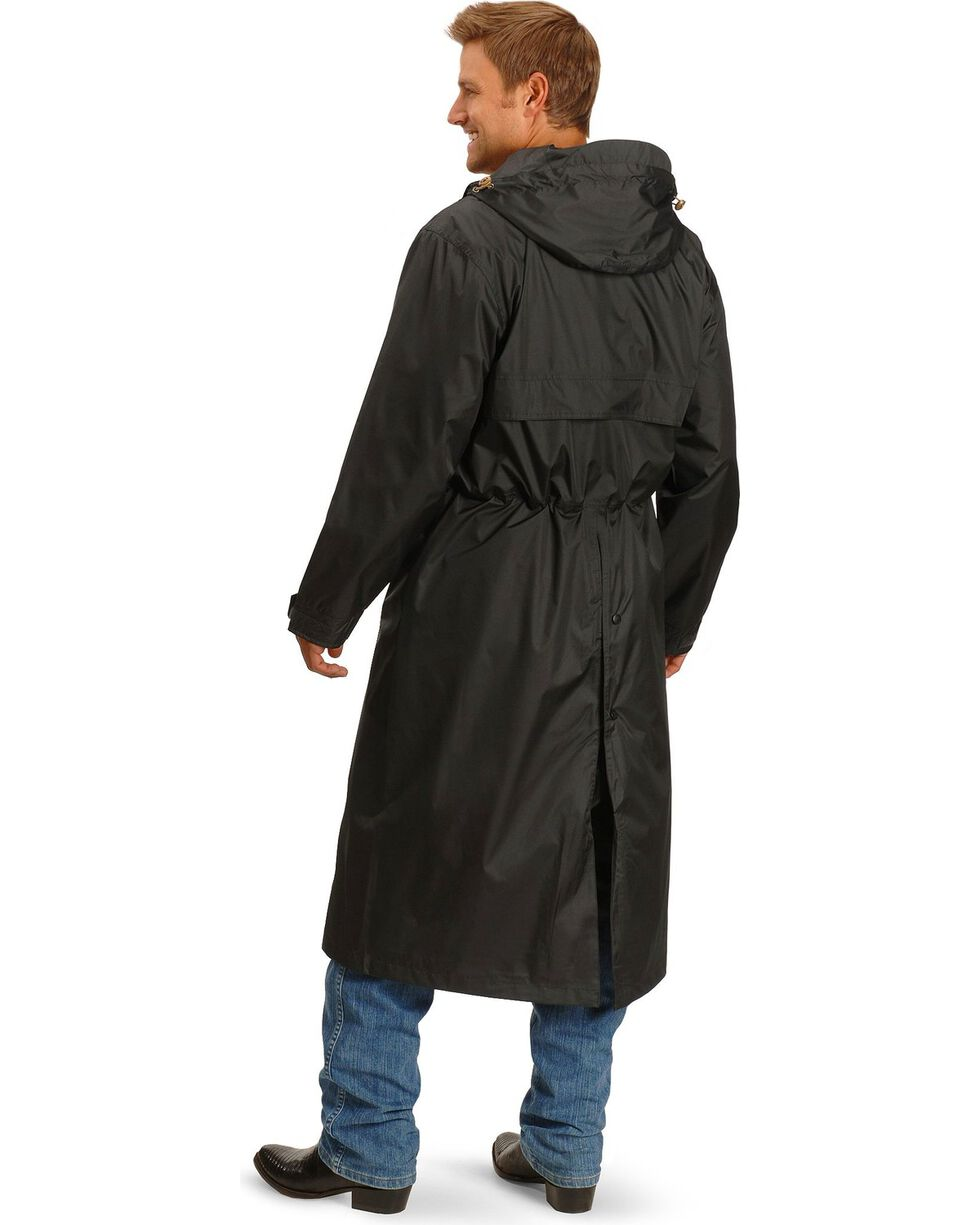 Outback Pak-A-Roo Waterproof Duster *Images 301/341 sent 1/2/18, Black, hi-res