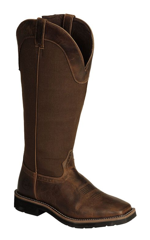 Justin Stampede Rugged Snake Boots - Square Toe, Tan, hi-res