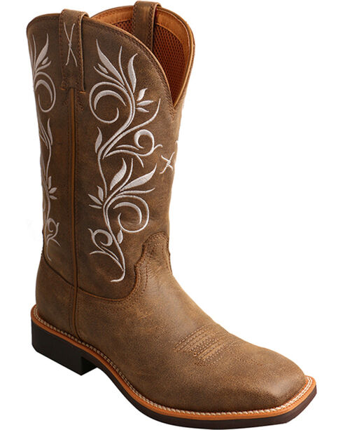 Twisted X Women's Top Hand Boot - Square Toe, Brown, hi-res