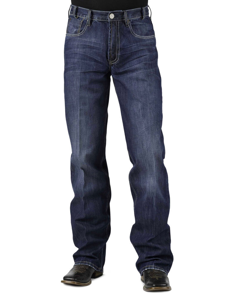 Stetson Modern Fit Bold Stitched Jeans - Tall, Denim, hi-res