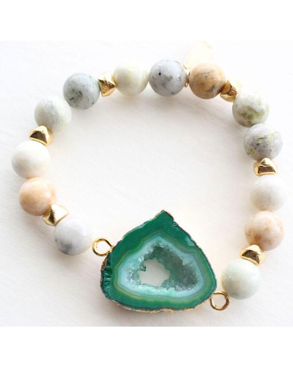 Everlasting Joy Women's A Bloom in Green Bracelet, Green, hi-res