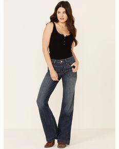 Ariat Perfect Rise Anastasia Wide Leg Trouser Jeans, Blue, hi-res