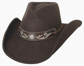 Bullhide Hangin' Out Brown Wool Cowgirl Hat, Chocolate, hi-res