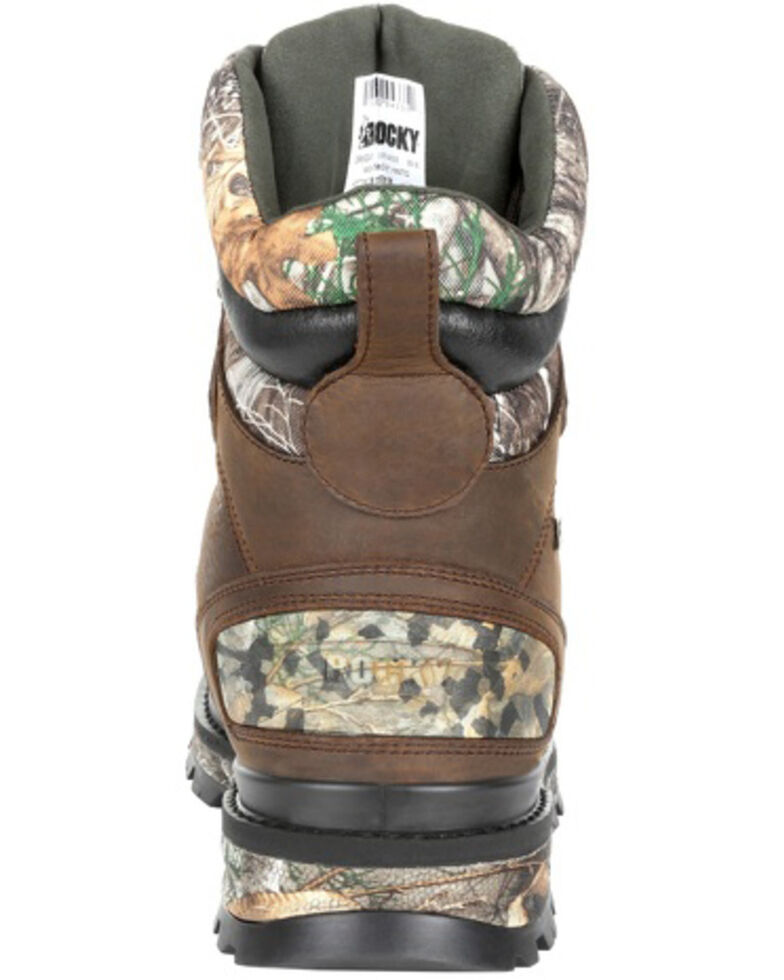 Rocky Men's Rams Horn Camo Waterproof Outdoor Boots - Soft Toe, Bark, hi-res