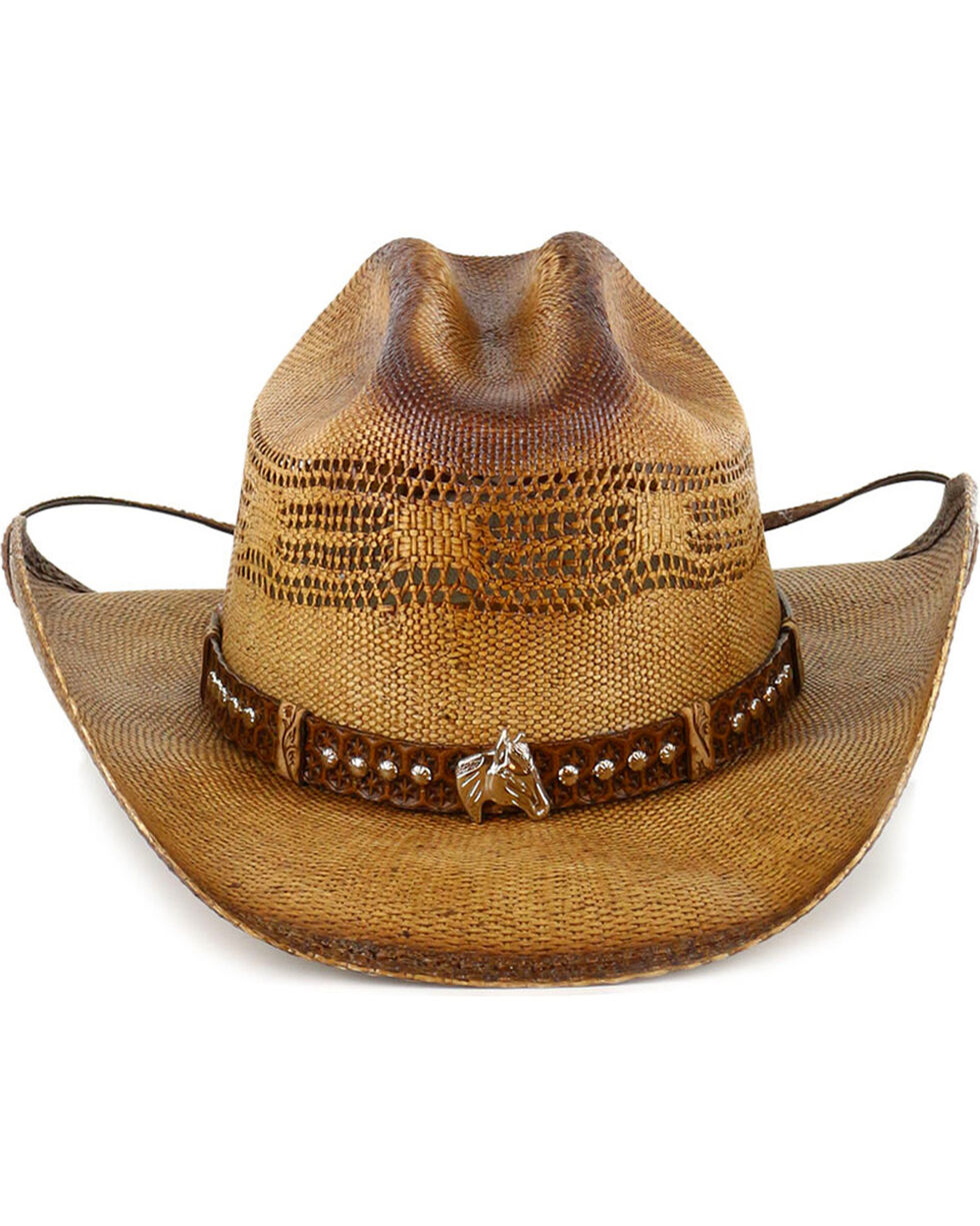 Bullhide Girls' Natural Wheel Horse Western Hat , Natural, hi-res