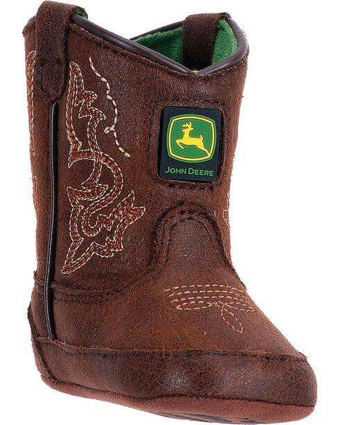 "John Deere Infant Boys' Rust 3"" Boots - Round Toe , Chocolate, hi-res"
