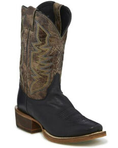 Justin Men's Black Navigator Western Boots - Square Toe, Black, hi-res