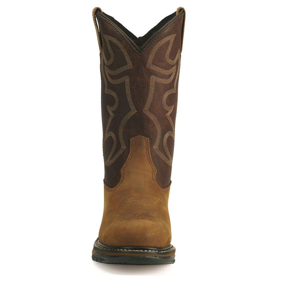Rocky Men's Branson Roper Work Boots - Steel Toe, Brown, hi-res