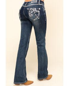 Grace in LA Women's Medium Scattered Line Bootcut Jeans  , Blue, hi-res
