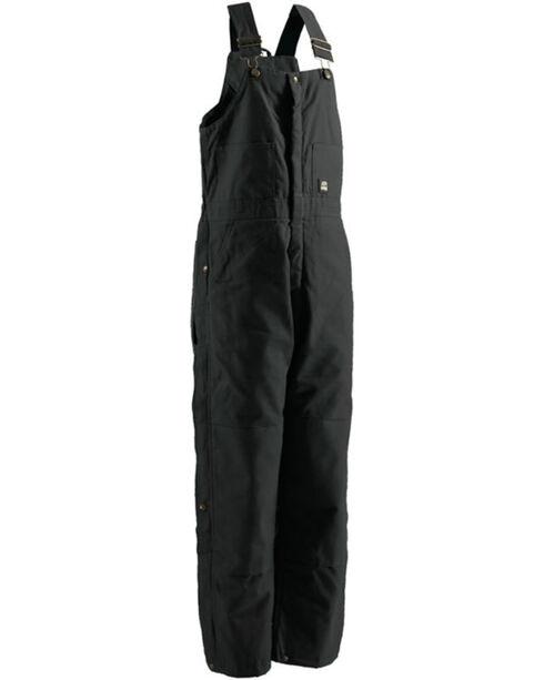 Berne Men's Black Deluxe Insulated Bib Overalls , Black, hi-res