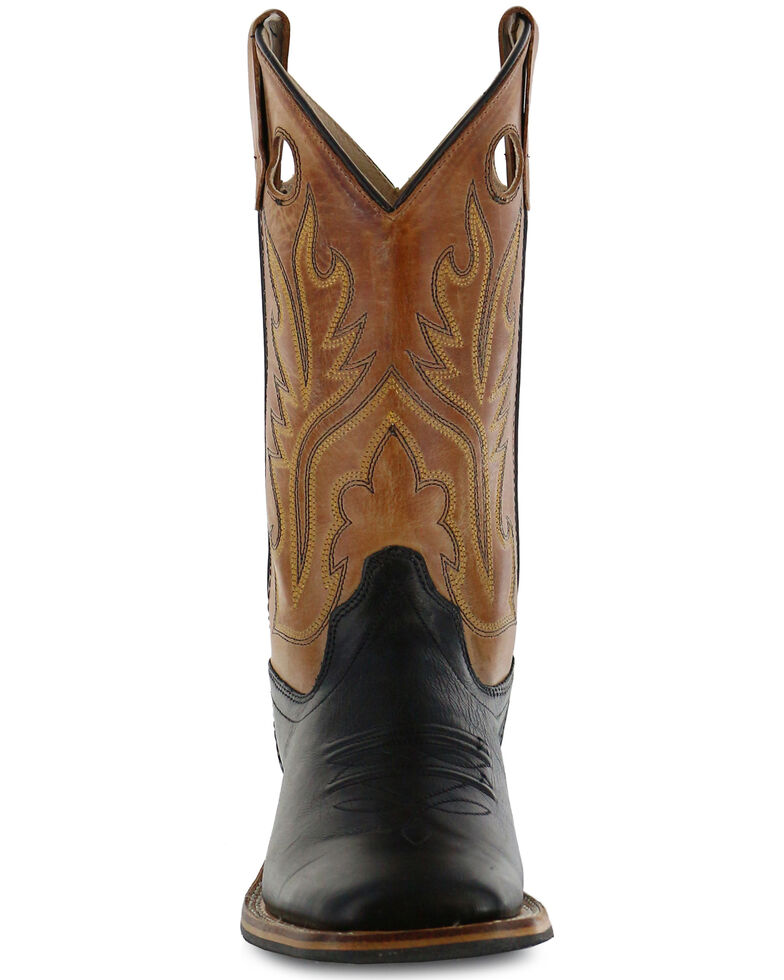 Cody James Boys' Black Canyon Tan Cowboy Boots - Square Toe, Black, hi-res