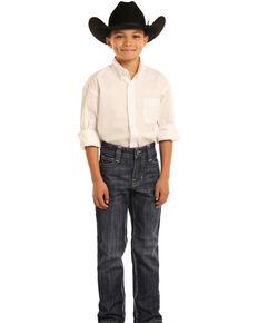 Rock & Roll Denim Boys' BB Gun Dark Vintage Bootcut Jeans , Blue, hi-res