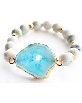 Everlasting Joy Women's A Bloom in Blue Bracelet, Blue, hi-res