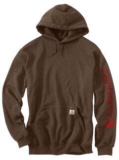 Carhartt Logo Hooded Sweatshirt, Chocolate, hi-res