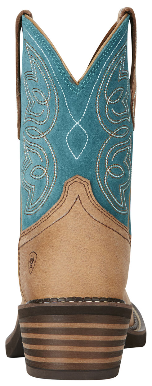 Ariat Women's Charlotte Boots - Round Toe, Tan, hi-res