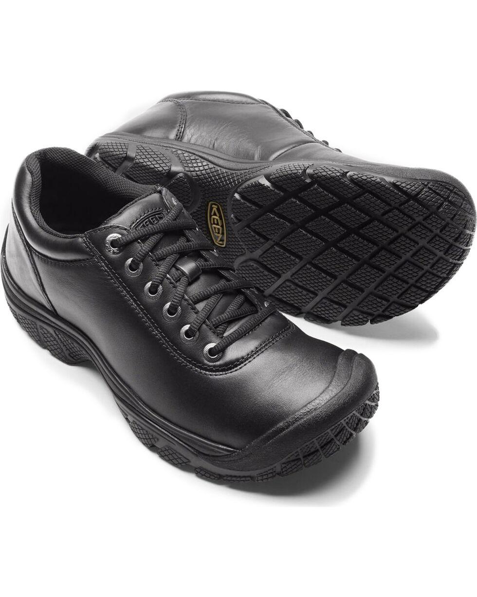 Keen Men's Black PTC Waterproof Work Oxford Shoes , Black, hi-res