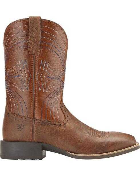Ariat Sport Cowboy Boots - Wide Square Toe, Sandstorm Brown, hi-res