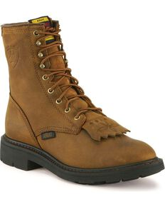 """Ariat Cascade 8"""" Lace-Up Work Boots, Aged Bark, hi-res"""