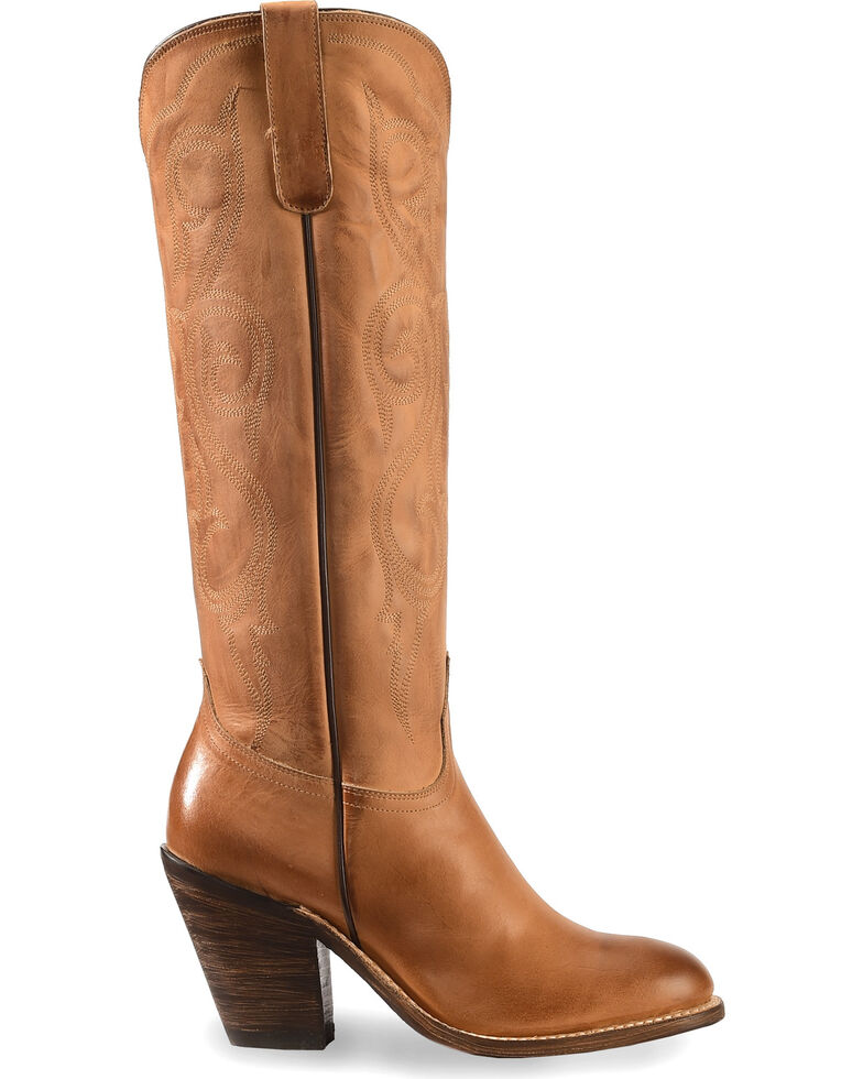 Lucchese Handmade Vanessa Tan Cowgirl Boots - Round Toe, Tan, hi-res