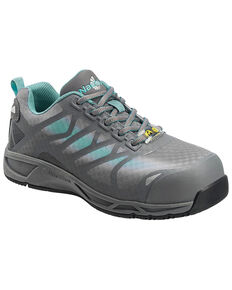 Nautilus Women's ESD Athletic Work Shoes - Safety Toe, Grey, hi-res