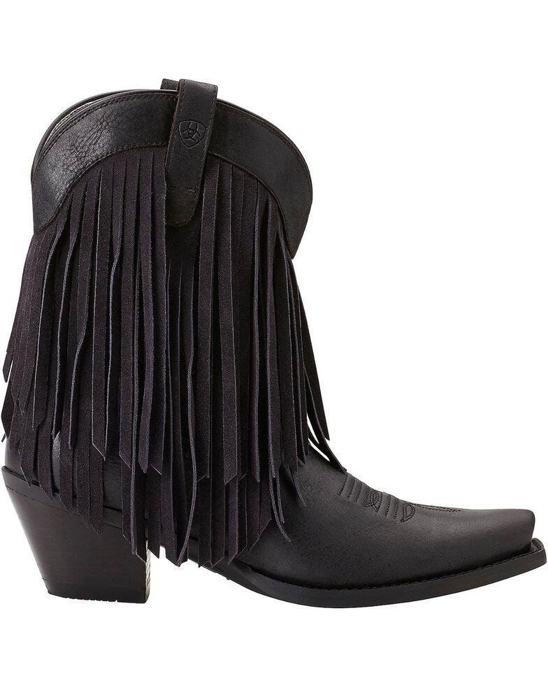 Ariat Gold Rush Fringe Cowgirl Boots - Snip Toe, Black, hi-res