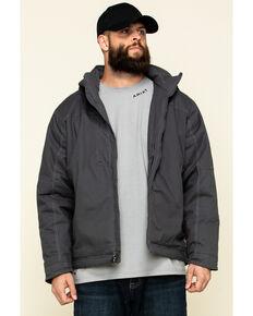 Ariat Men's Grey Rebar Max Move Cordura Insulated Hooded Work Jacket - Big , Grey, hi-res