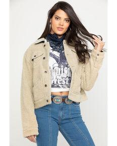 Wrangler Women's Cayden Sherpa Jacket, Ivory, hi-res