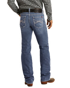 Rock & Roll Denim Men's FR Reflex Double Barrel Relaxed Straight Work Jeans , Blue, hi-res