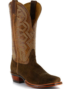 Nocona Men's Hippo Print Western Boots, Brown, hi-res