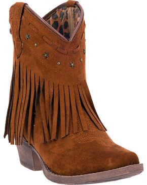Dingo Cassidy Women's Fringe Western Boots - Snip Toe, Rust, hi-res