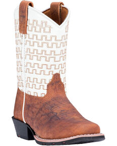 Dan Post Youth Boys' Sammie Western Boots - Square Toe, Rust Copper, hi-res