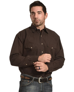 Exclusive Gibson Trading Co. Lightweight Work Shirt, Chocolate, hi-res