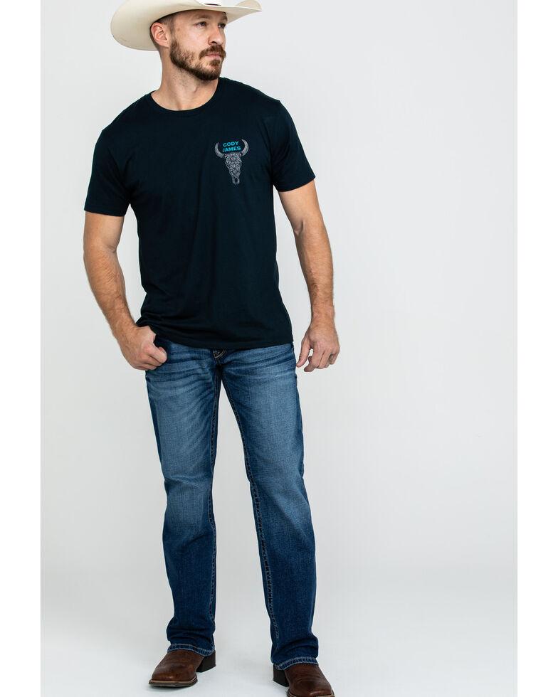 Ariat Men's M4 Summit Low Rise Stretch Bootcut Jeans - Big , Blue, hi-res