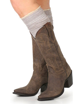 Shyanne Women's Knee-High Boot Socks, Heather Grey, hi-res
