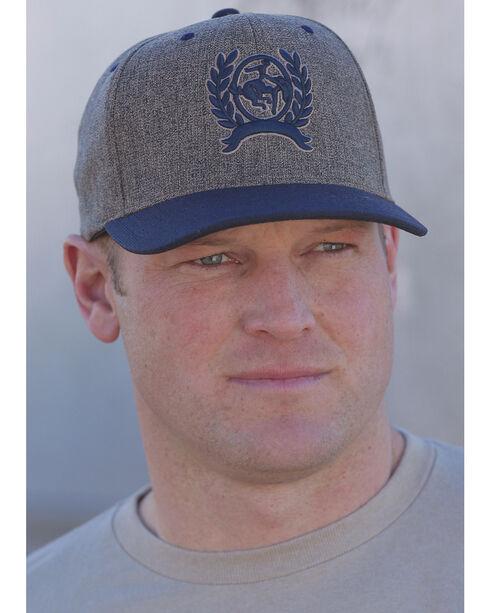 Cinch Men's Grey and Blue Logo Baseball Cap , Multi, hi-res