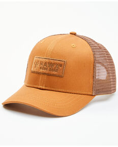 Hawx Men's Pecan Hook & Loop Logo Patch Mesh-Back Ball Cap , Pecan, hi-res