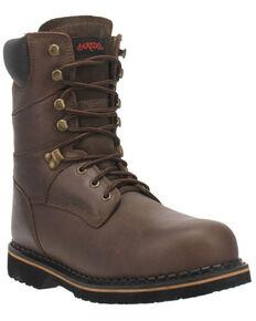 Laredo Men's Chain Work Boots - Steel Toe, Brown, hi-res