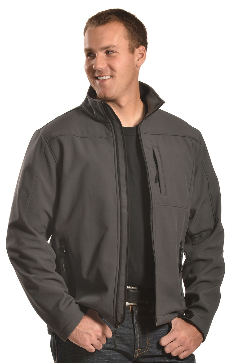Forge Workwear Men's Grey Lined Bonded Jacket , Grey, hi-res