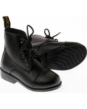 Saxon Kids' Equileather Lace Boots, Black, hi-res